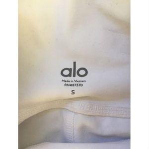 ALO Yoga Pants - ALO Coast Capris- White- Small